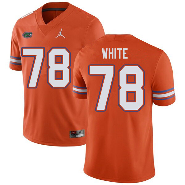 Jordan Brand Men #78 Ethan White Florida Gators College Football Jerseys Sale-Orange