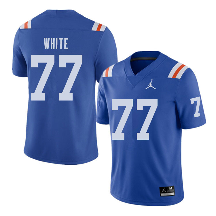 Jordan Brand Men #77 Ethan White Florida Gators Throwback Alternate College Football Jerseys Sale-Ro