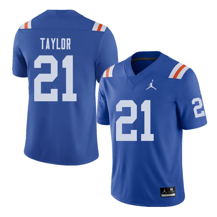 Jordan Brand Men #21 Fred Taylor Florida Gators Throwback Alternate College Football Jerseys Sale-Ro