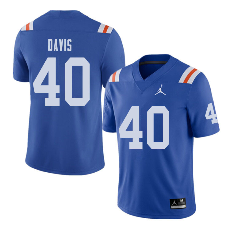 Jordan Brand Men #40 Jarrad Davis Florida Gators Throwback Alternate College Football Jerseys Sale-R
