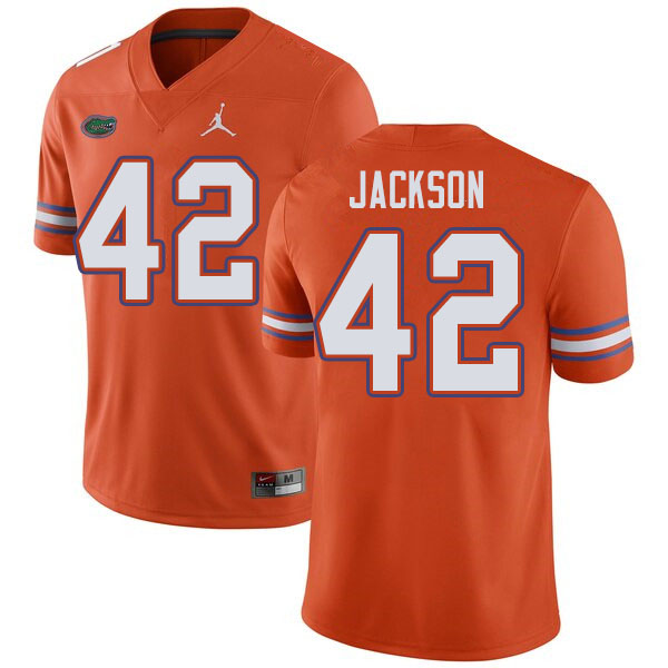 Jordan Brand Men #42 Jaylin Jackson Florida Gators College Football Jerseys Sale-Orange