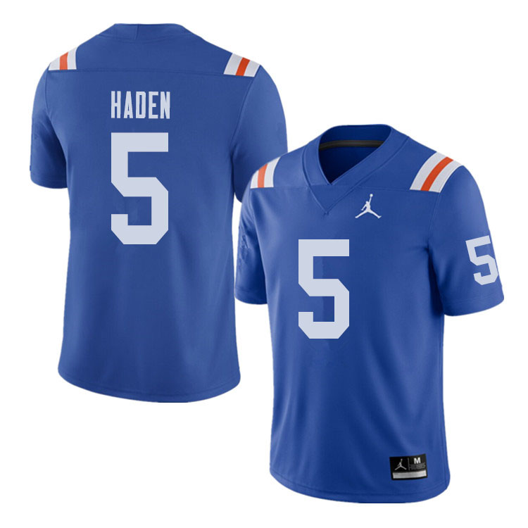 Jordan Brand Men #5 Joe Haden Florida Gators Throwback Alternate College Football Jerseys Sale-Royal