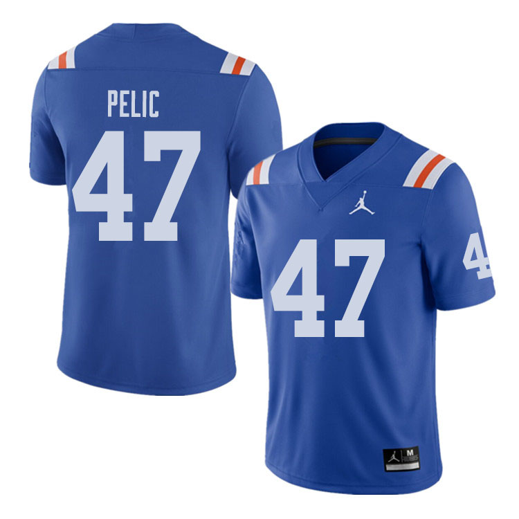 Jordan Brand Men #47 Justin Pelic Florida Gators Throwback Alternate College Football Jerseys Sale-R