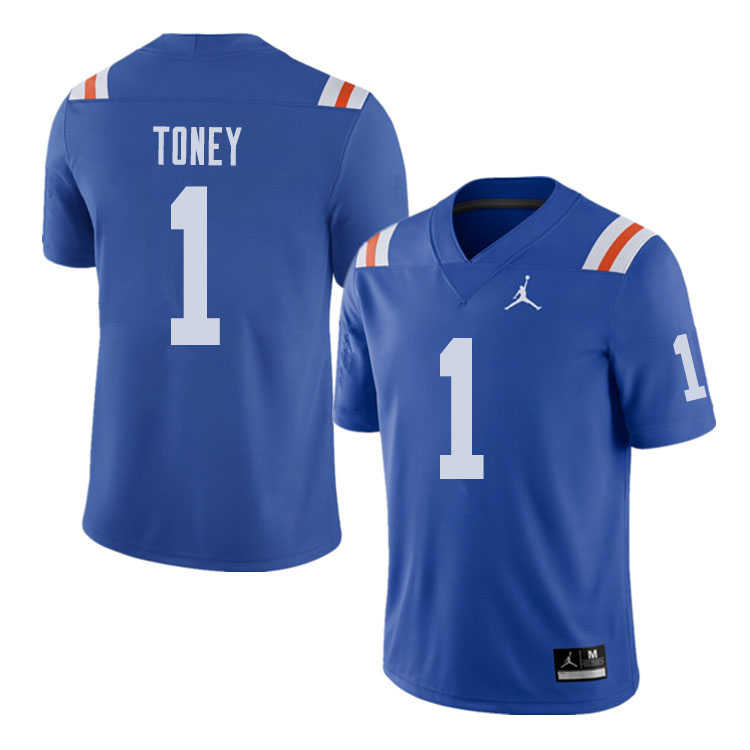 Jordan Brand Men #1 Kadarius Toney Florida Gators Throwback Alternate College Football Jerseys Sale-