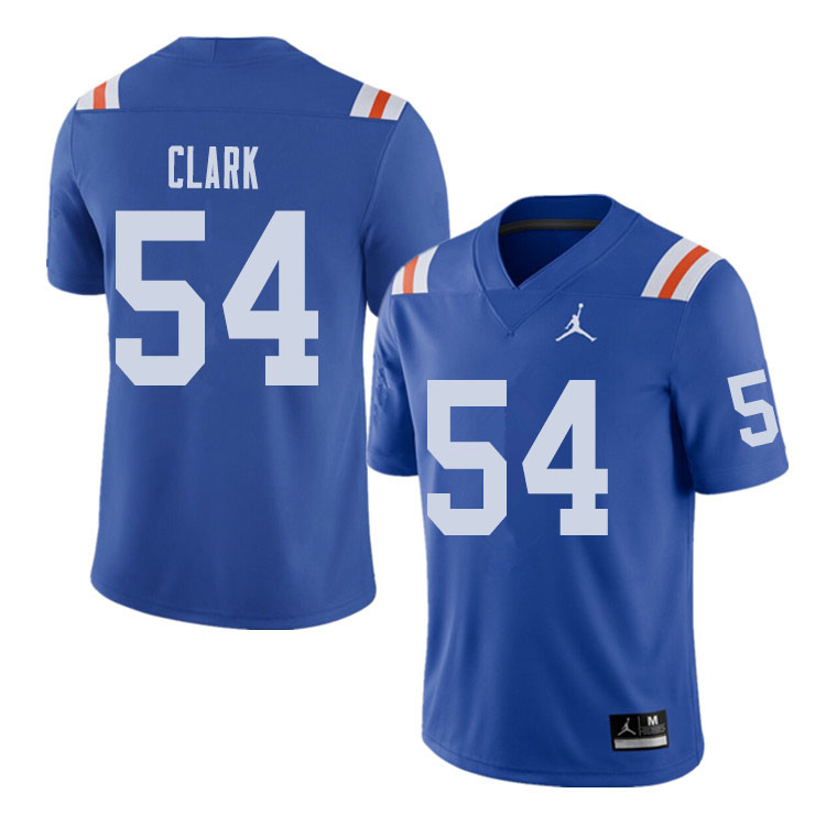 Jordan Brand Men #54 Khairi Clark Florida Gators Throwback Alternate College Football Jerseys Sale-R
