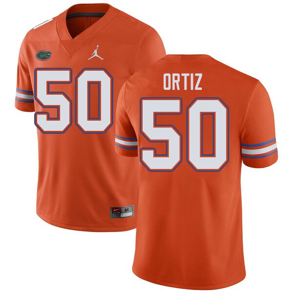 Jordan Brand Men #50 Marco Ortiz Florida Gators College Football Jerseys Sale-Orange