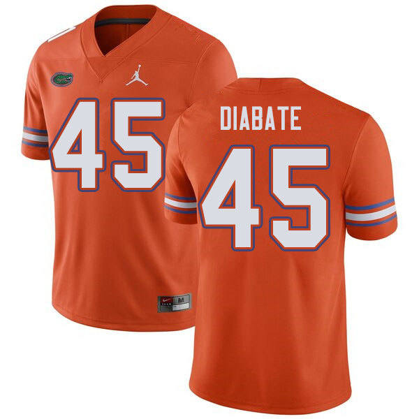Jordan Brand Men #45 Mohamoud Diabate Florida Gators College Football Jerseys Sale-Orange