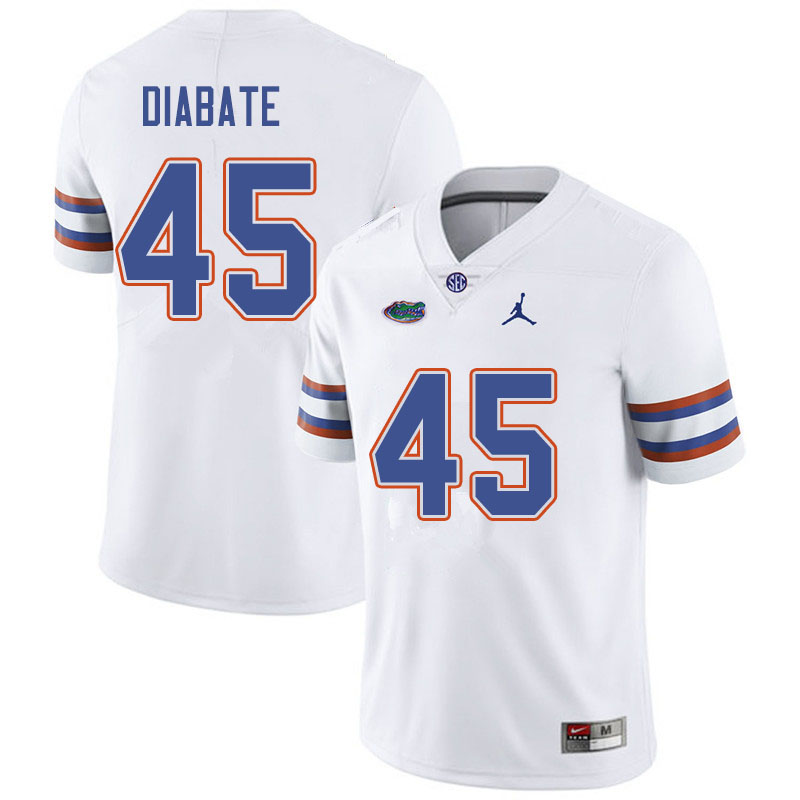 Jordan Brand Men #45 Mohamoud Diabate Florida Gators College Football Jerseys Sale-White
