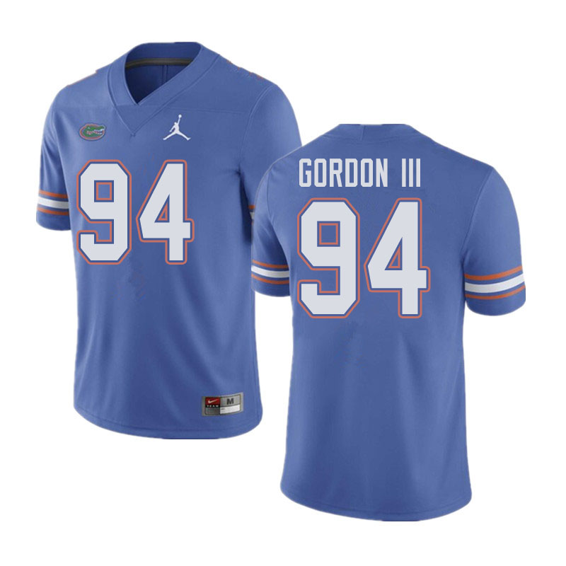 Jordan Brand Men #94 Moses Gordon III Florida Gators College Football Jerseys Sale-Blue