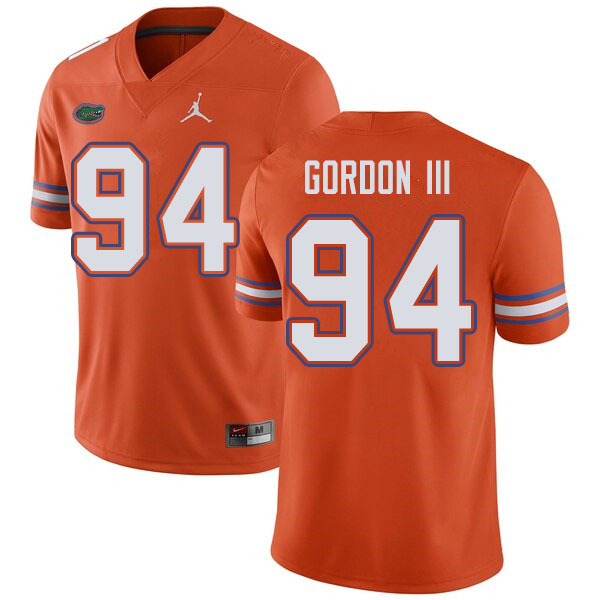 Jordan Brand Men #94 Moses Gordon III Florida Gators College Football Jerseys Sale-Orange