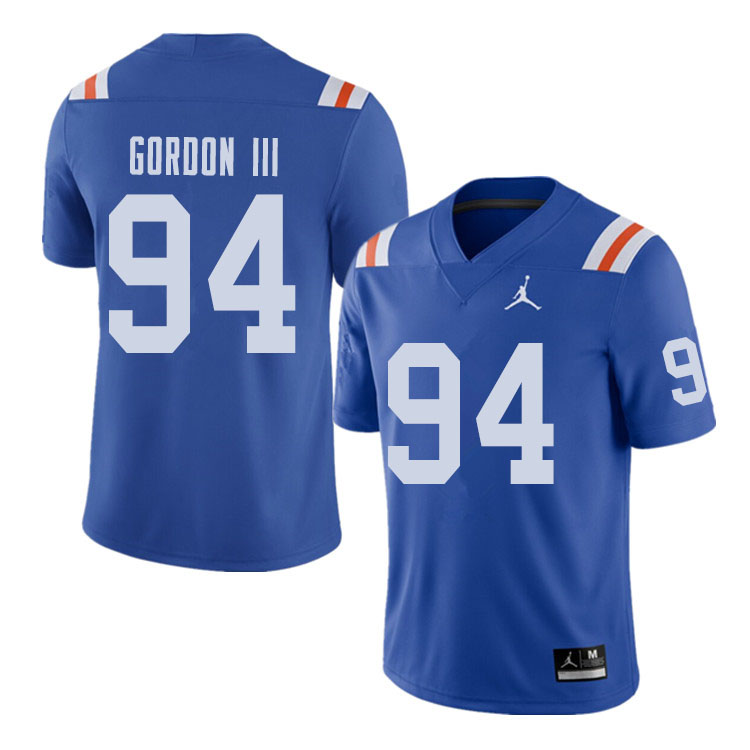 Jordan Brand Men #94 Moses Gordon III Florida Gators Throwback Alternate College Football Jerseys Sa