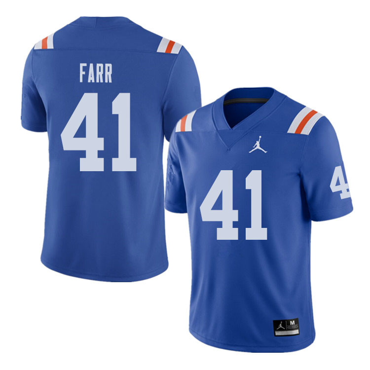 Jordan Brand Men #41 Ryan Farr Florida Gators Throwback Alternate College Football Jerseys Sale-Roya