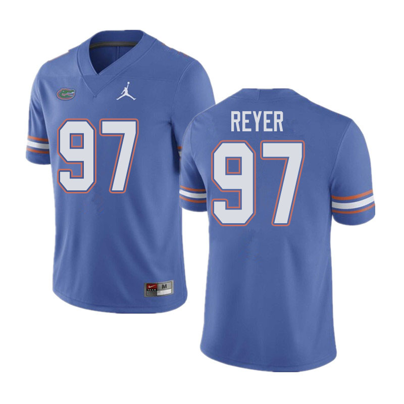 Jordan Brand Men #97 Theodore Reyer Florida Gators College Football Jerseys Sale-Blue