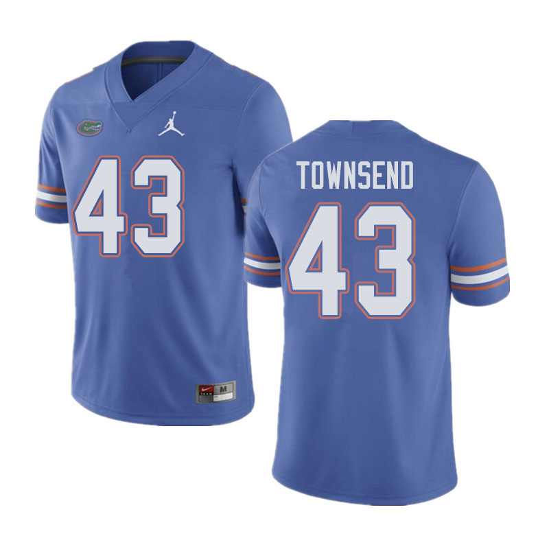 Jordan Brand Men #43 Tommy Townsend Florida Gators College Football Jerseys Sale-Blue