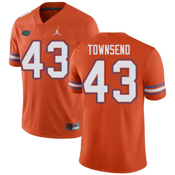 Jordan Brand Men #43 Tommy Townsend Florida Gators College Football Jerseys Sale-Orange