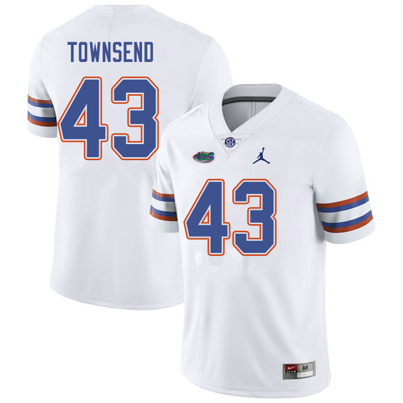 Jordan Brand Men #43 Tommy Townsend Florida Gators College Football Jerseys Sale-White
