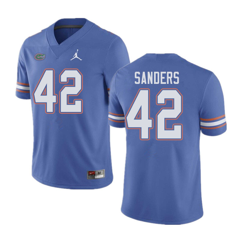 Jordan Brand Men #42 Umstead Sanders Florida Gators College Football Jerseys Sale-Blue