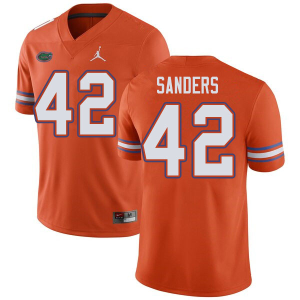 Jordan Brand Men #42 Umstead Sanders Florida Gators College Football Jerseys Sale-Orange
