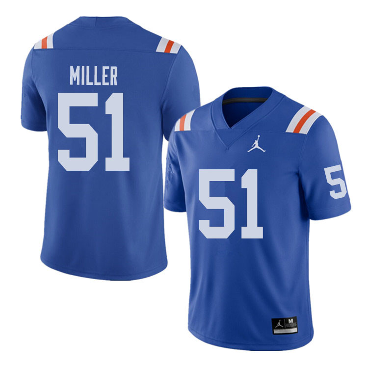Jordan Brand Men #51 Ventrell Miller Florida Gators Throwback Alternate College Football Jerseys Sal