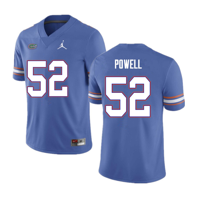Men #52 Antwuan Powell Florida Gators College Football Jerseys Sale-Blue