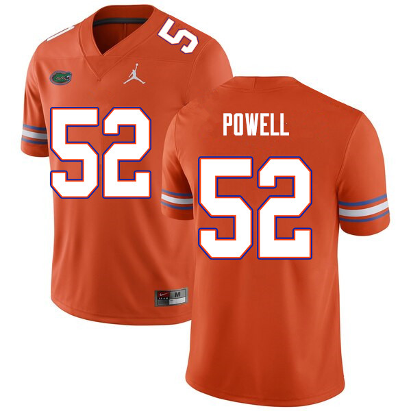Men #52 Antwuan Powell Florida Gators College Football Jerseys Sale-Orange