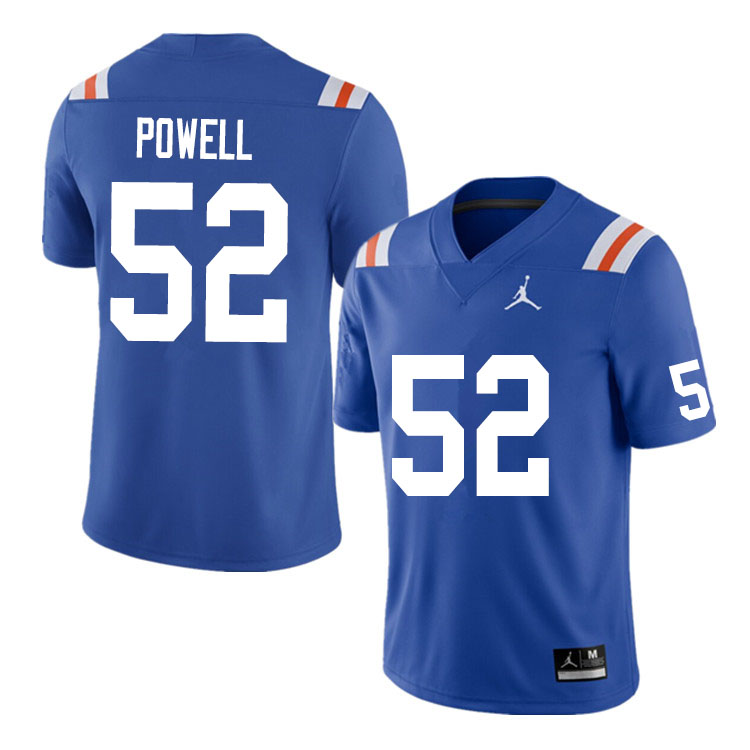 Men #52 Antwuan Powell Florida Gators College Football Jerseys Sale-Throwback