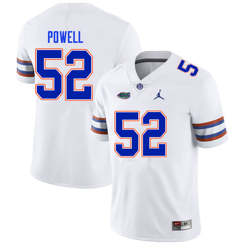 Men #52 Antwuan Powell Florida Gators College Football Jerseys Sale-White