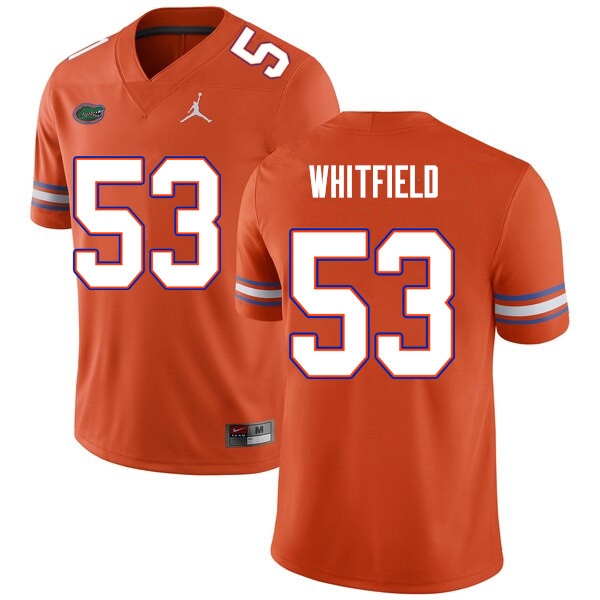Men #53 Chase Whitfield Florida Gators College Football Jerseys Sale-Orange