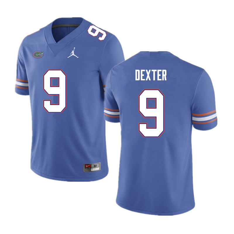 Men #9 Gervon Dexter Florida Gators College Football Jerseys Sale-Blue