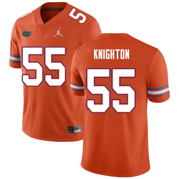 Men #55 Hayden Knighton Florida Gators College Football Jerseys Sale-Orange