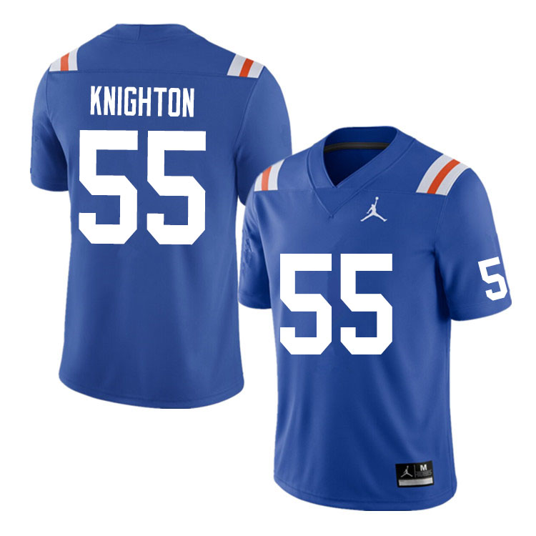 Men #55 Hayden Knighton Florida Gators College Football Jerseys Sale-Throwback
