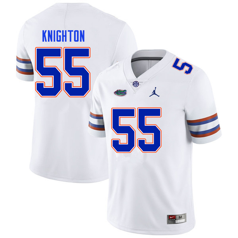 Men #55 Hayden Knighton Florida Gators College Football Jerseys Sale-White