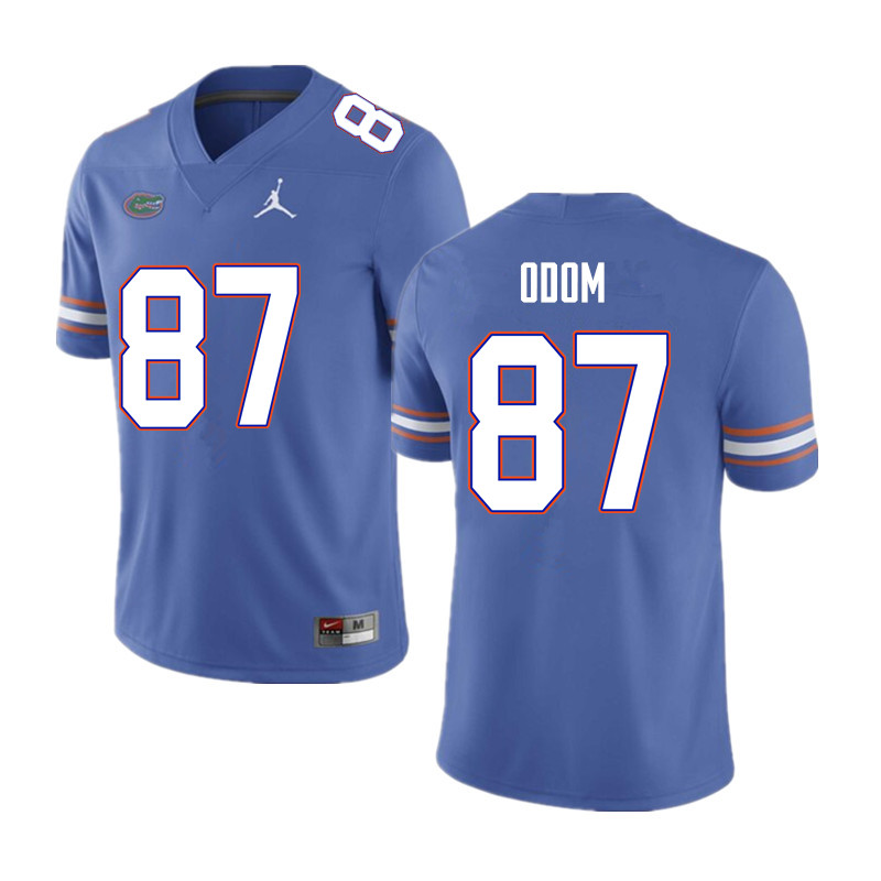 Men #87 Jonathan Odom Florida Gators College Football Jerseys Sale-Blue
