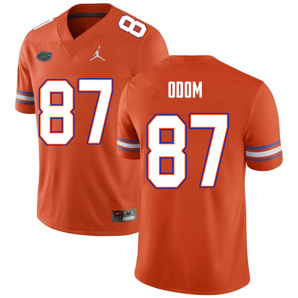 Men #87 Jonathan Odom Florida Gators College Football Jerseys Sale-Orange