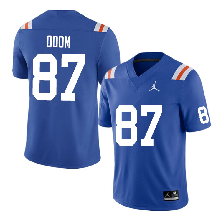 Men #87 Jonathan Odom Florida Gators College Football Jerseys Sale-Throwback