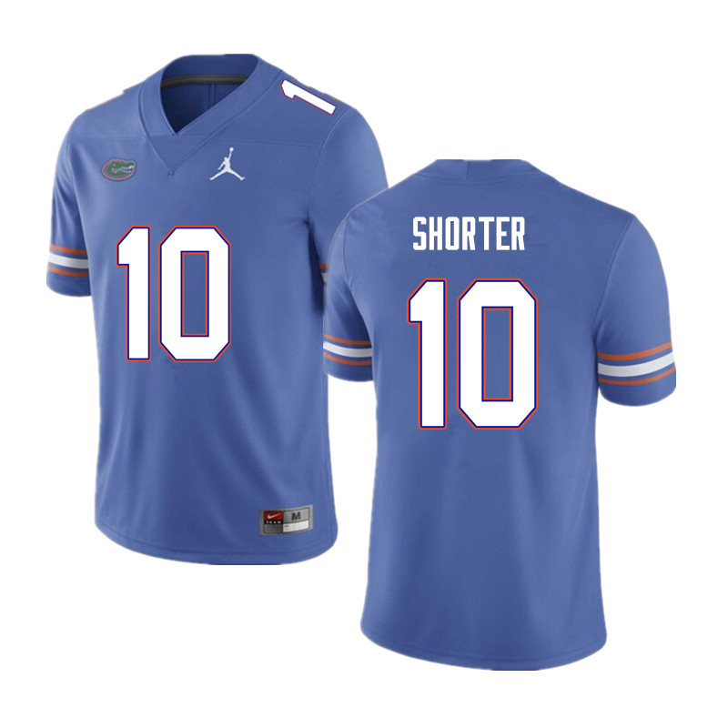Men #10 Justin Shorter Florida Gators College Football Jerseys Sale-Blue