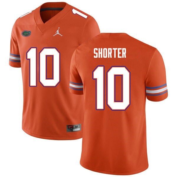 Men #10 Justin Shorter Florida Gators College Football Jerseys Sale-Orange