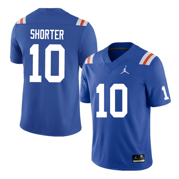 Men #10 Justin Shorter Florida Gators College Football Jerseys Sale-Throwback