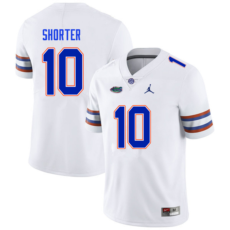 Men #10 Justin Shorter Florida Gators College Football Jerseys Sale-White