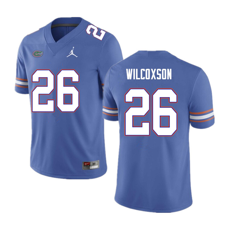 Men #26 Kamar Wilcoxson Florida Gators College Football Jerseys Sale-Blue