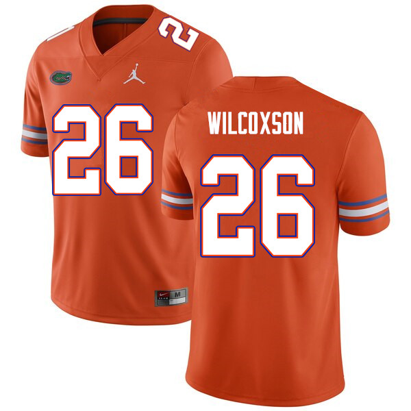 Men #26 Kamar Wilcoxson Florida Gators College Football Jerseys Sale-Orange