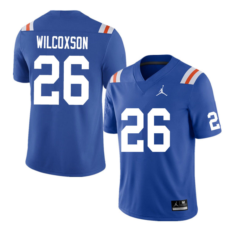 Men #26 Kamar Wilcoxson Florida Gators College Football Jerseys Sale-Throwback