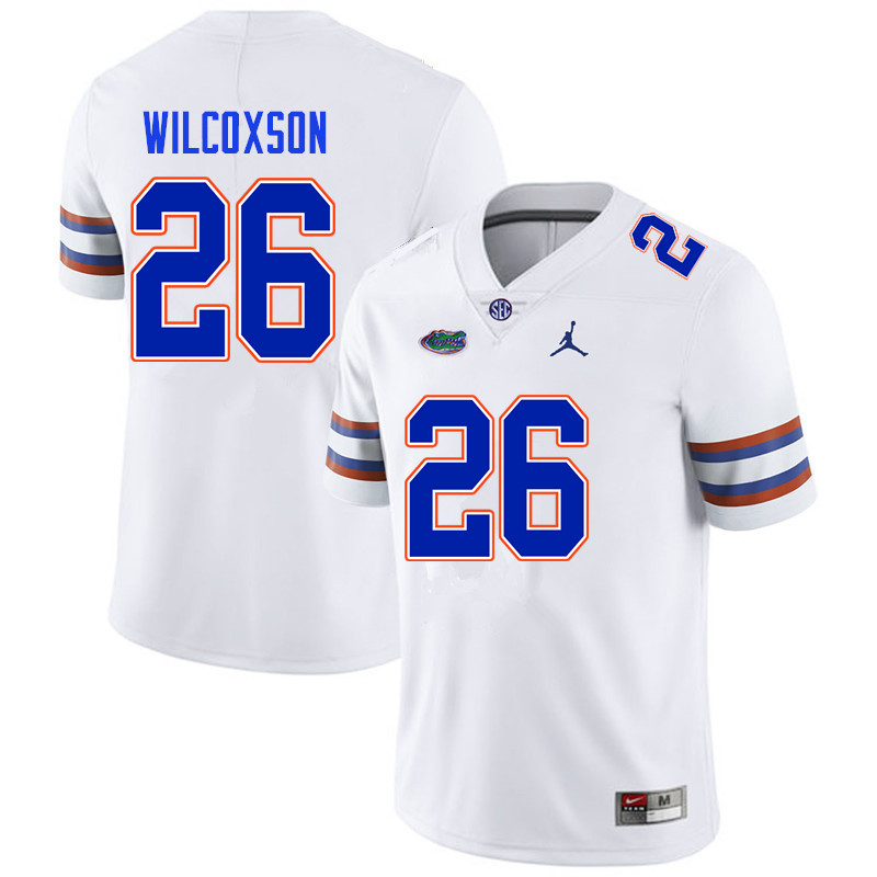 Men #26 Kamar Wilcoxson Florida Gators College Football Jerseys Sale-White