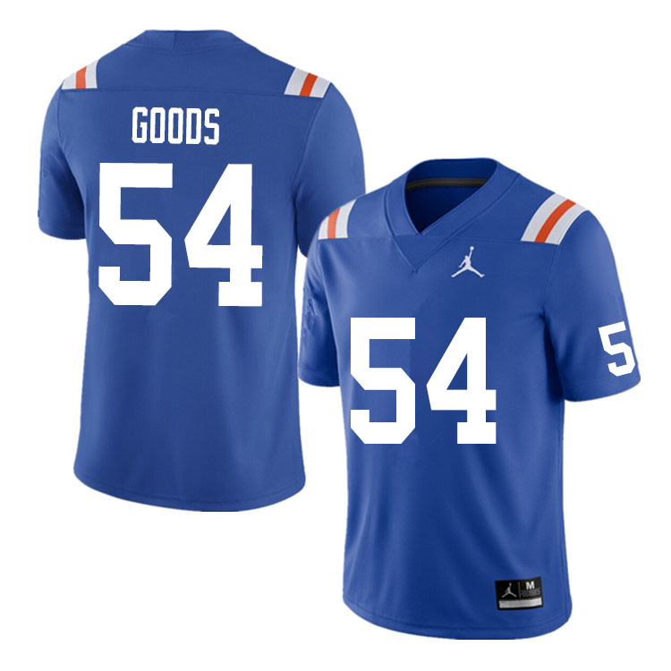 Men #54 Lamar Goods Florida Gators College Football Jerseys Sale-Throwback