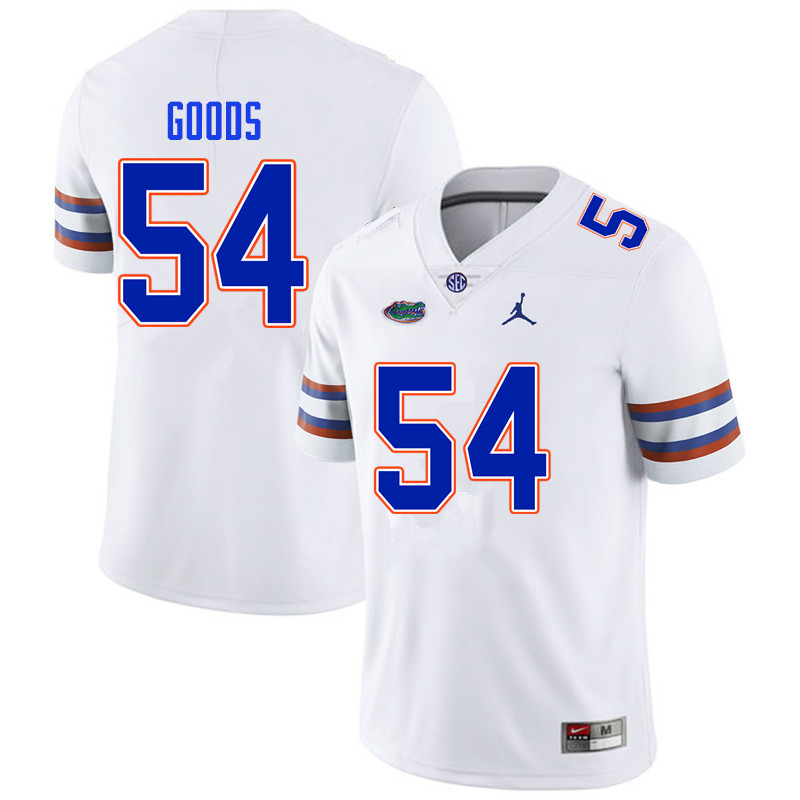Men #54 Lamar Goods Florida Gators College Football Jerseys Sale-White