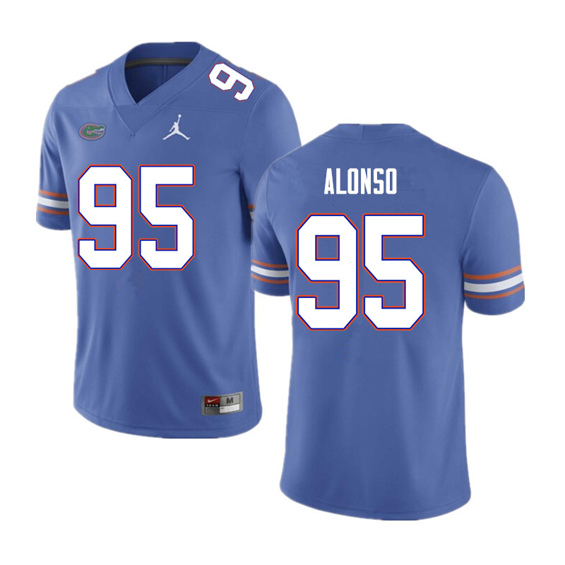 Men #95 Lucas Alonso Florida Gators College Football Jerseys Sale-Blue