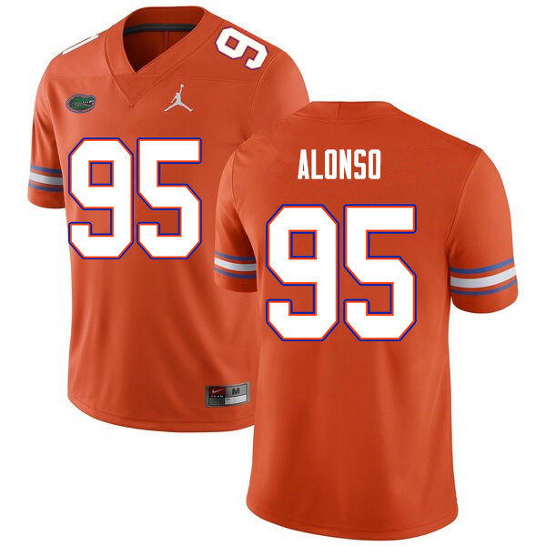 Men #95 Lucas Alonso Florida Gators College Football Jerseys Sale-Orange