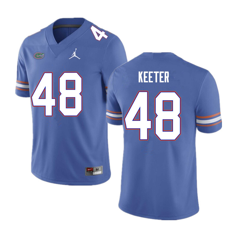 Men #48 Noah Keeter Florida Gators College Football Jerseys Sale-Blue