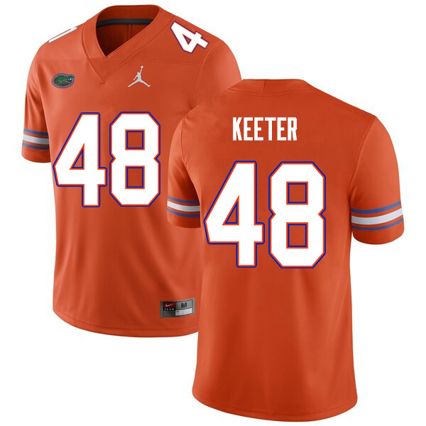 Men #48 Noah Keeter Florida Gators College Football Jerseys Sale-Orange