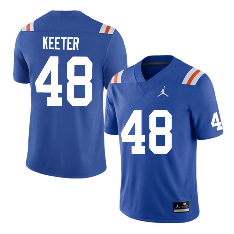 Men #48 Noah Keeter Florida Gators College Football Jerseys Sale-Throwback